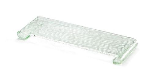 "TableCraft ARC1 Acrylic Rectangle Riser with Curved Legs, 14-1/2"" x 5"" x 1"""