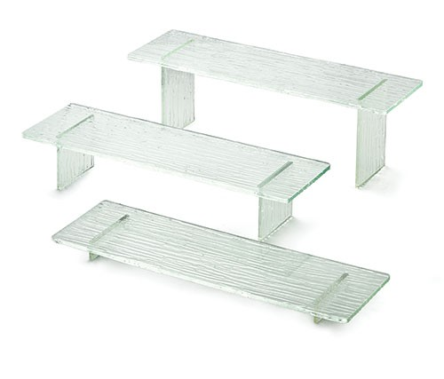 3 Piece Rectangle Riser Set with Straight Legs