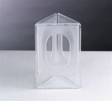 "TableCraft 50703 Acrylic 3-Sided Table Tent Card Holder 5"" x 7"""