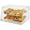 Winco ADC-2 Acrylic Countertop Pastry Cabinet with 2 Trays