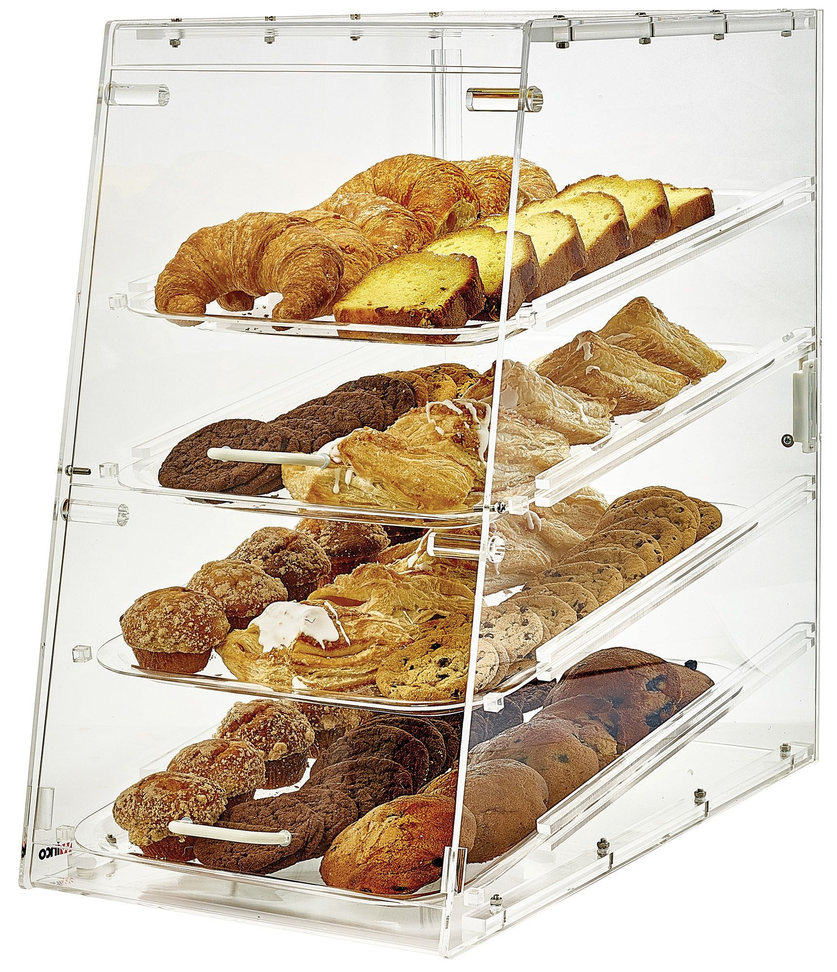 Winco ADC-4 Acrylic Countertop Pastry Cabinet with 4 Trays