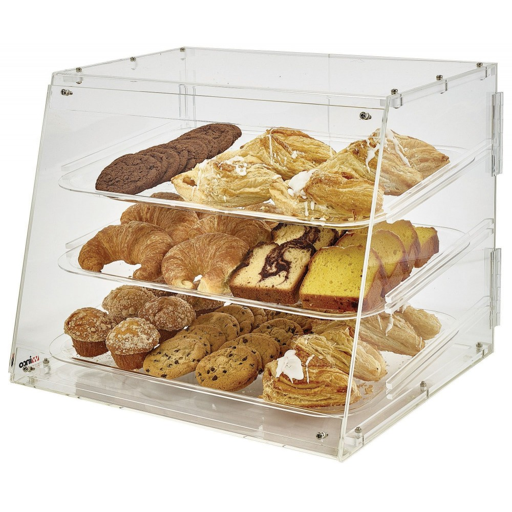 Winco ADC-3 Acrylic Countertop Pastry Cabinet with 3 Trays