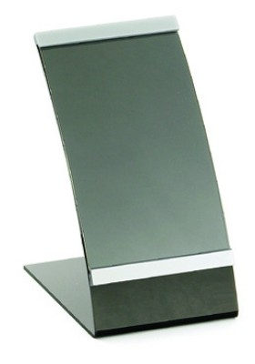 "Acrylic Curved Menu Holder, 4"" x 6"""