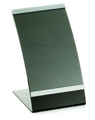 "Acrylic Curved Menu Holder, 5-1/2"" x 8-1/2"""