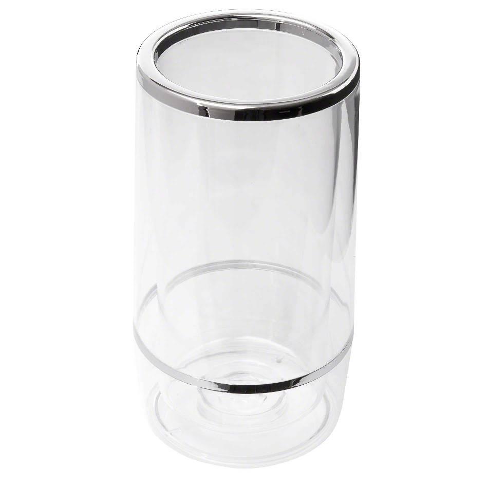 "TableCraft 36 Acrylic Double Wall Insulation Wine Bucket 4-1/2"" Dia. x 9-1/4"""