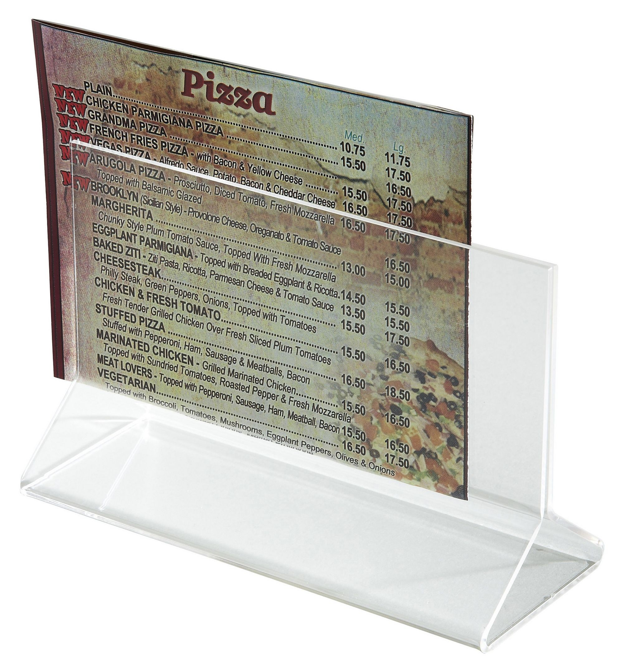 "Winco ATCH-53 Acrylic Menu Card Holder, 5-1/2"" x 3-1/2"""