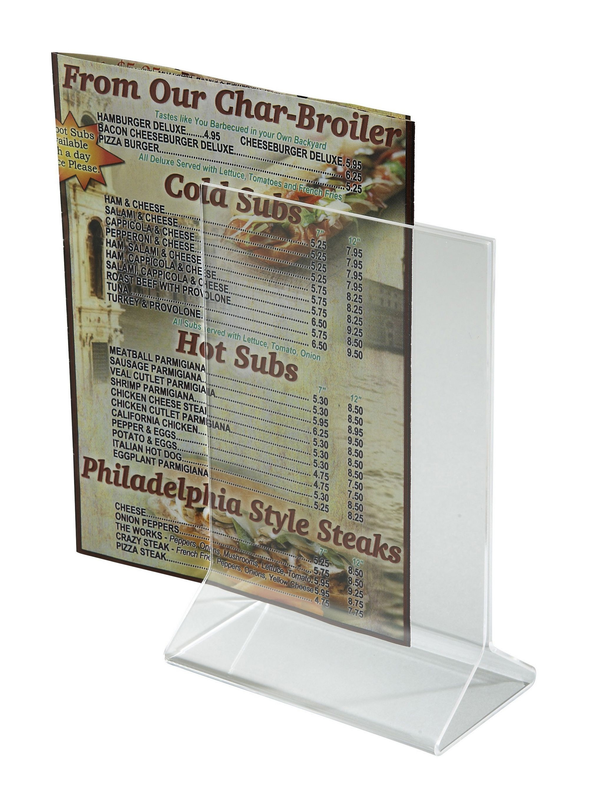 "Winco ATCH-46 Acrylic Menu Card Holder, 4"" x 6"""