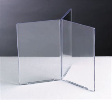 "TableCraft 40606 Acrylic Six-Sided Table Tent Card Holder, 4"" x 6"""