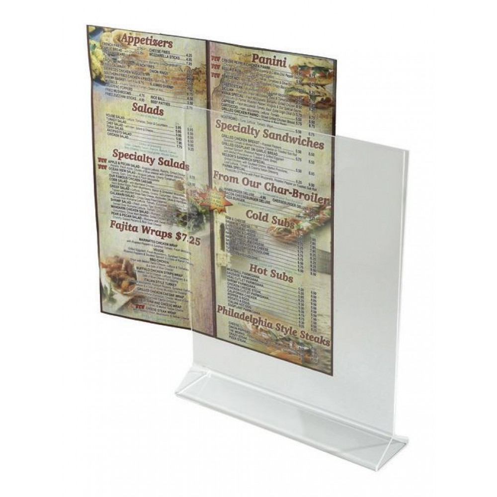 "Winco ATCH-811 Acrylic Table Card Displayette 8"" x 11"""