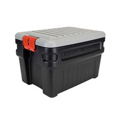 ActionPacker Storage Box, 8gal, Black/Gray