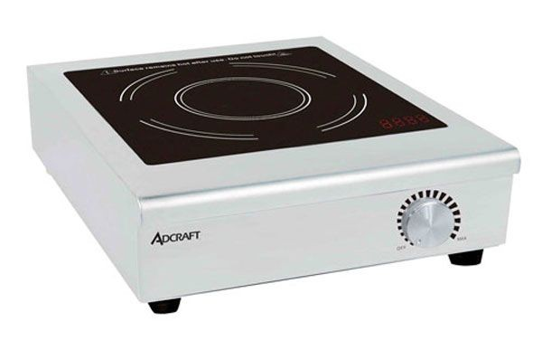 Adcraft IND-C120V Conduction Induction Cooker with Manual Controls