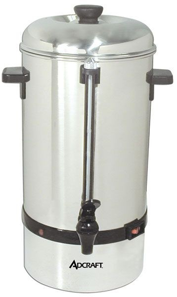 Adcraft CP-40 40 Cup Stainless Steel Coffee Percolator