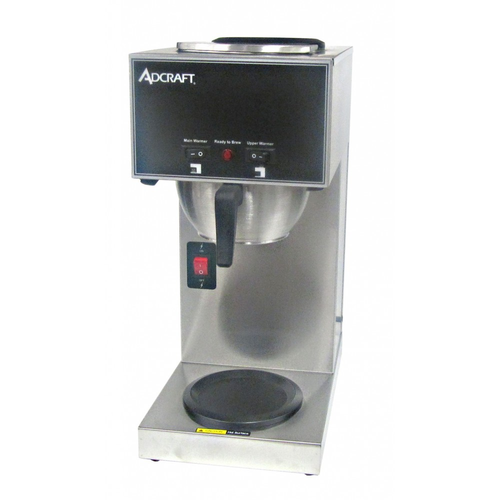 Adcraft CBS-2 Pour Over Single Coffee Brewer with Two Warmers
