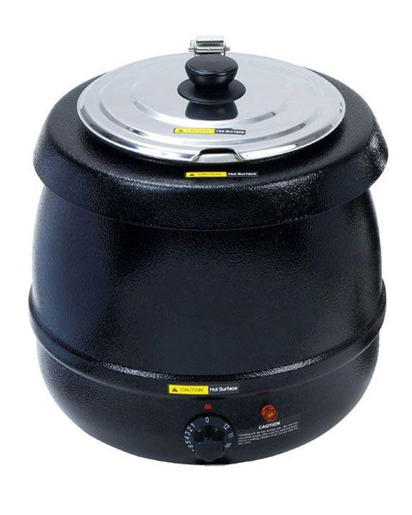 Adcraft SK-600 Economy Black Soup Kettle, 11 Qt.