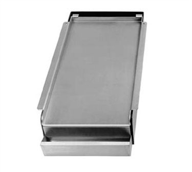 Franklin Machine Products 133-1002 Add-On Nickel-Plated Steel Griddle for 2 Burner Stoves