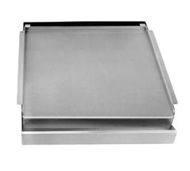 Franklin Machine Products 133-1003 Add-On Nickel-Plated Steel Griddle for 4 Burner Stoves