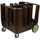 Winco DCA-6 Dish Caddy with 6 Adjustable Dividers and Vinyl Cover