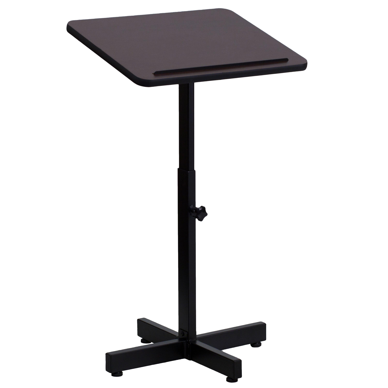 Flash Furniture XU-LECTERN-ADJ-GG Adjustable Height Lectern