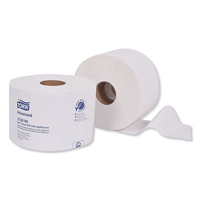 Advanced Bath Tissue Roll with OptiCore, Septic Safe, 2-Ply, White, 865 Sheets/Roll, 36/Carton