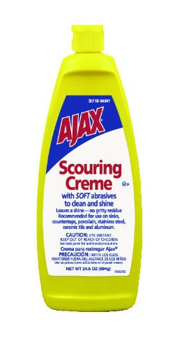 Ajax Scour Creme Bottle, Lemon, 24.5 Oz