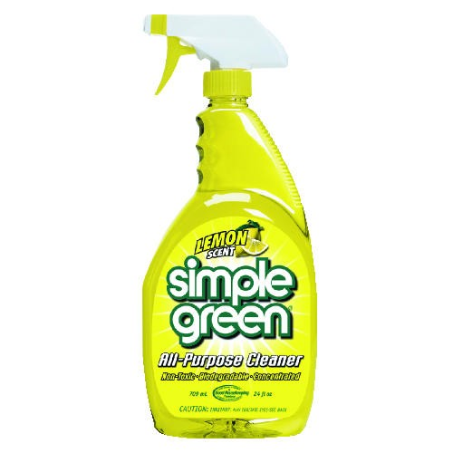 Simple Green Industrial Cleaner and Degreaser, Concentrated, Lemon, 24 oz. Bottle, 12/Carton