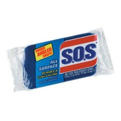 All Purpose Scrubber Sponge,  Thick, Dark Blue / Light Blue 3 x 5 1/4 in, 1