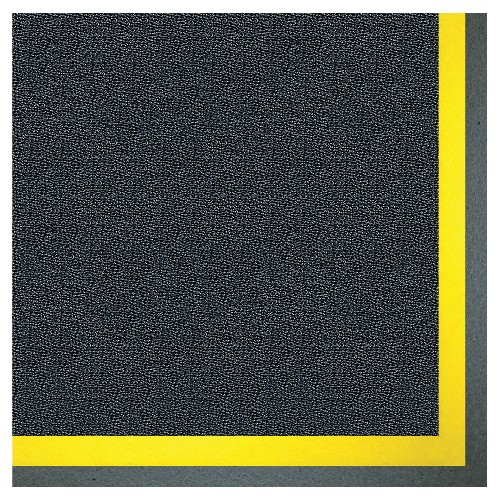 Alleviator II Anti-Fatigue Mat, 2 X 3, Black with Yellow Border, 7/8