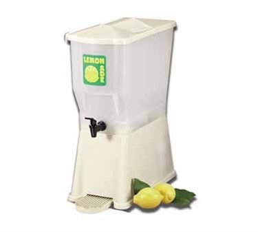 TableCraft 356DPH Almond 3 Gallon Slimline Beverage Dispenser with Fast Flow Faucet