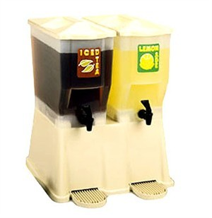 Almond Fast Flow 2-Reservoir 3 Gal. Slimline Beverage Dispenser