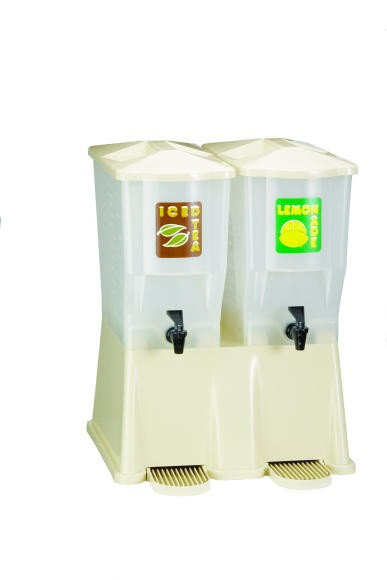 TableCraft TW33DP Slimline Twin Almond Beverage/Juice Dispenser 3 Gallon