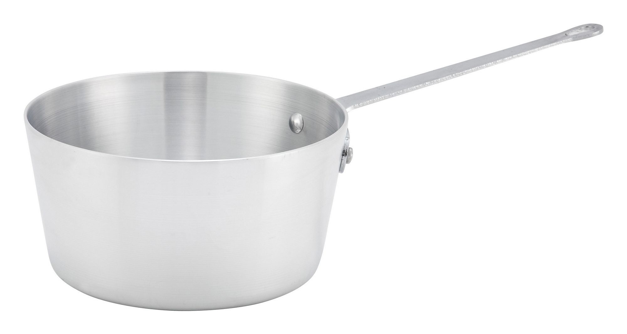 Winco ASP-1 Aluminum 1 Qt. Sauce Pan with Helper Handle