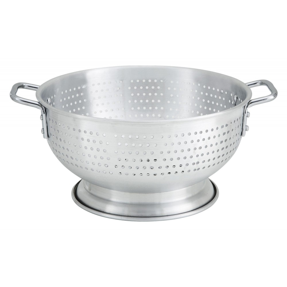 Aluminum 11-Qt Colander With Base And Handles
