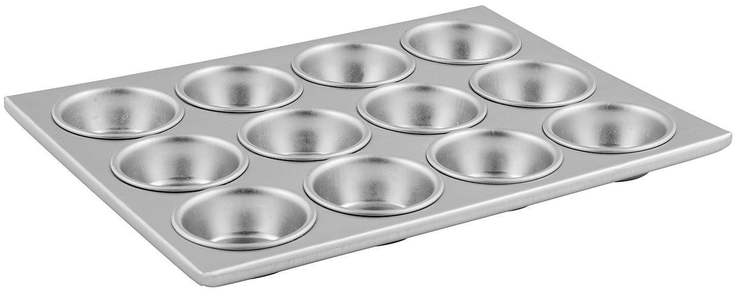 "Winco AMF-12 Aluminum 12-Compartment Muffin Pan, 14"" x 11"""