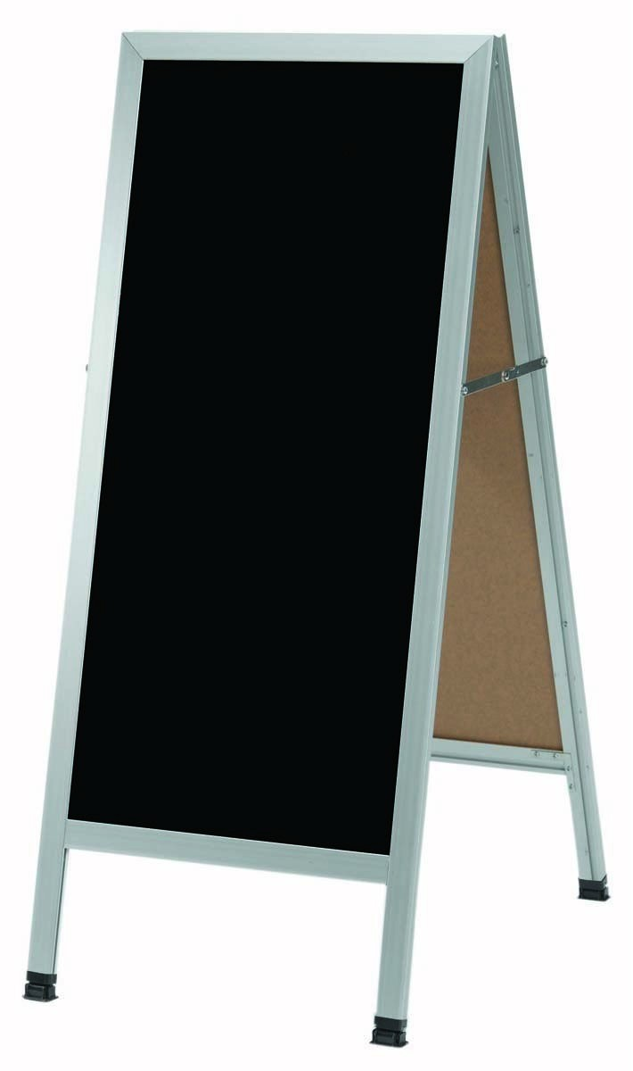 "Aarco Products AA-311SB Aluminum A-Frame Sidewalk Porcelain Marker board, Black, 18""W x 42""H x"