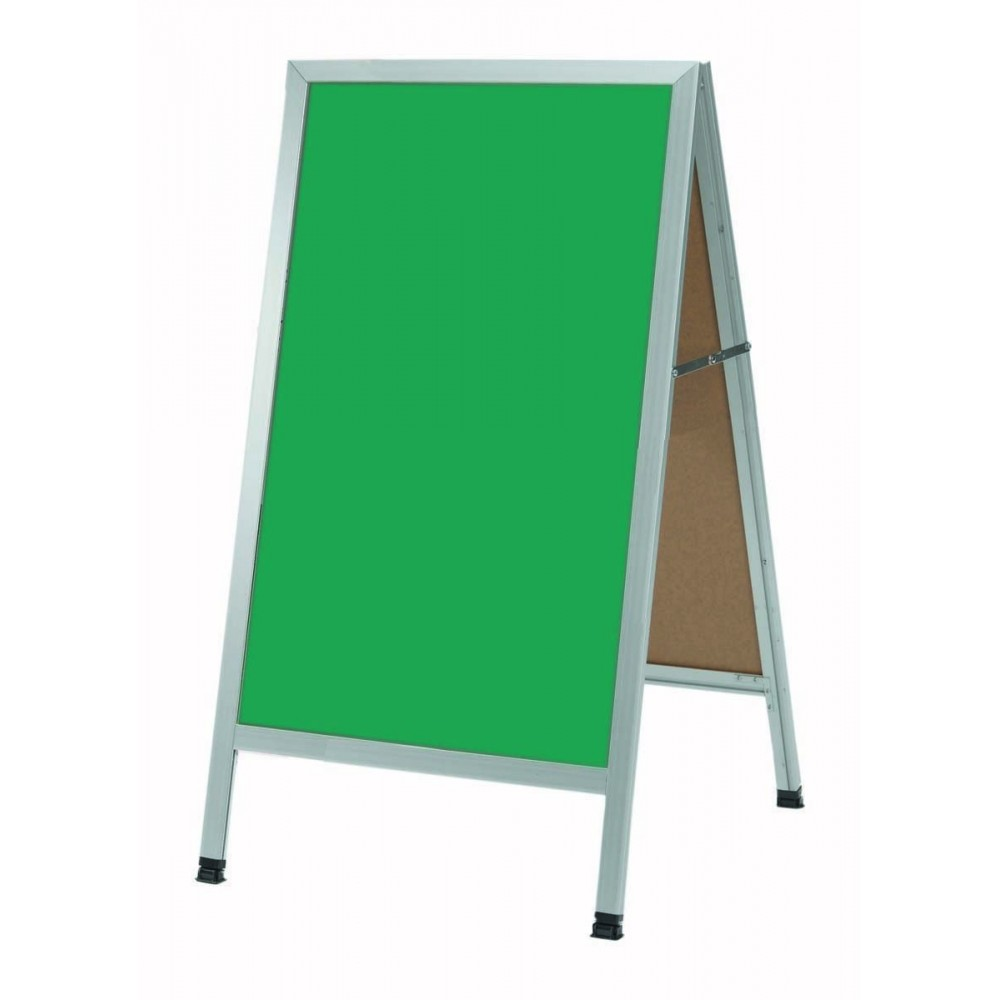 Aluminum A-Frame Sidewalk Green Composition Chalkboard