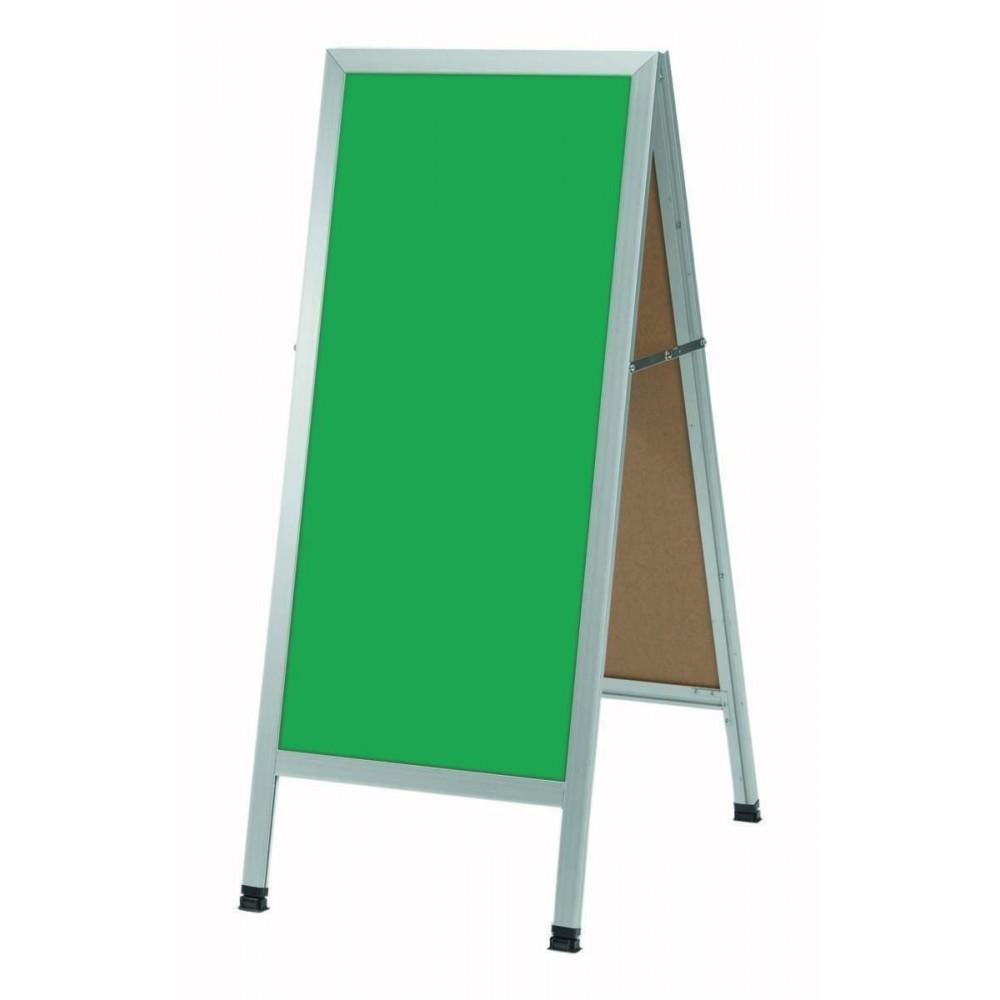Aluminum A-Frame Sidewalk Green Porcelain Chalkboard,  42