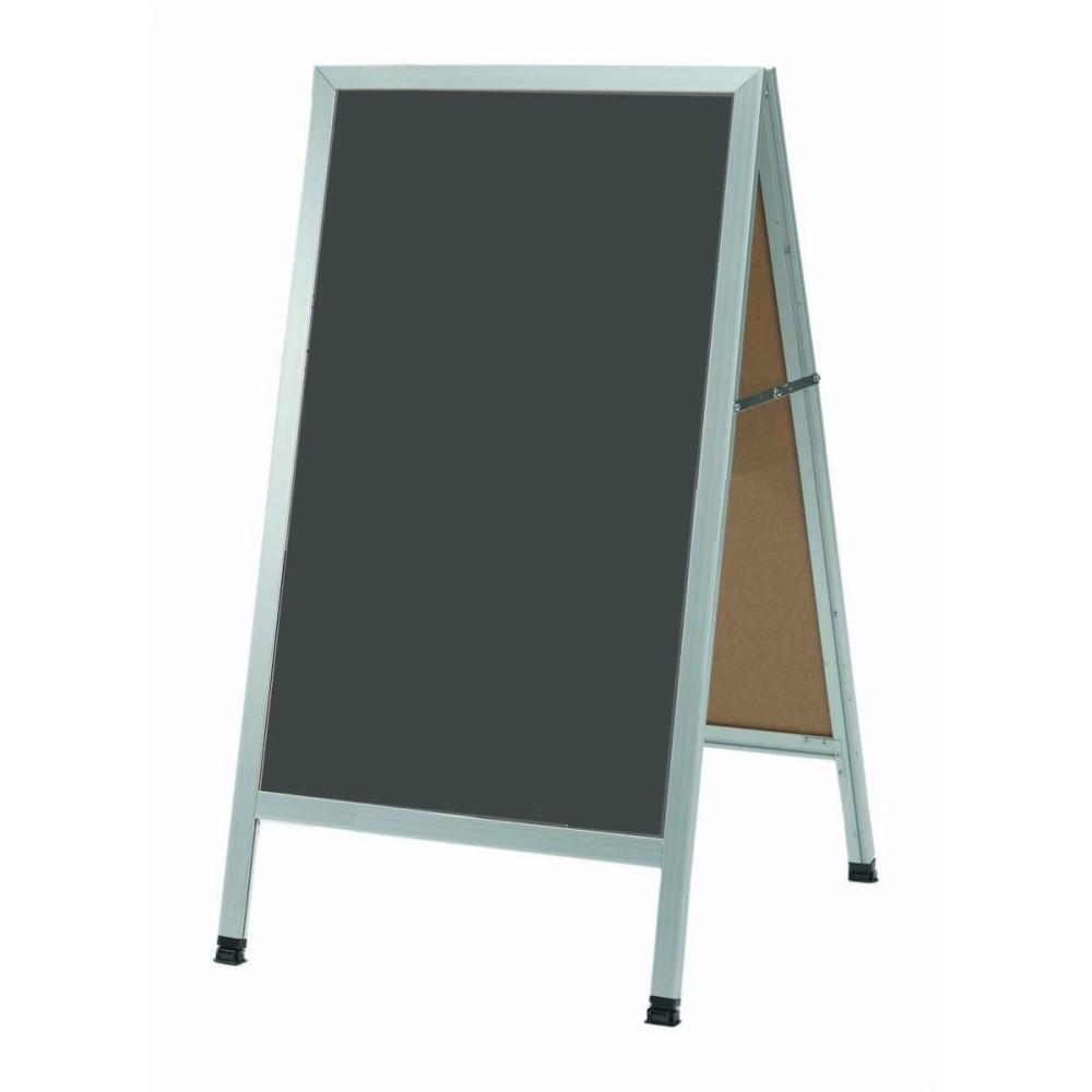 Aluminum A-Frame Sidewalk Slate Porcelain Chalkboard, 42