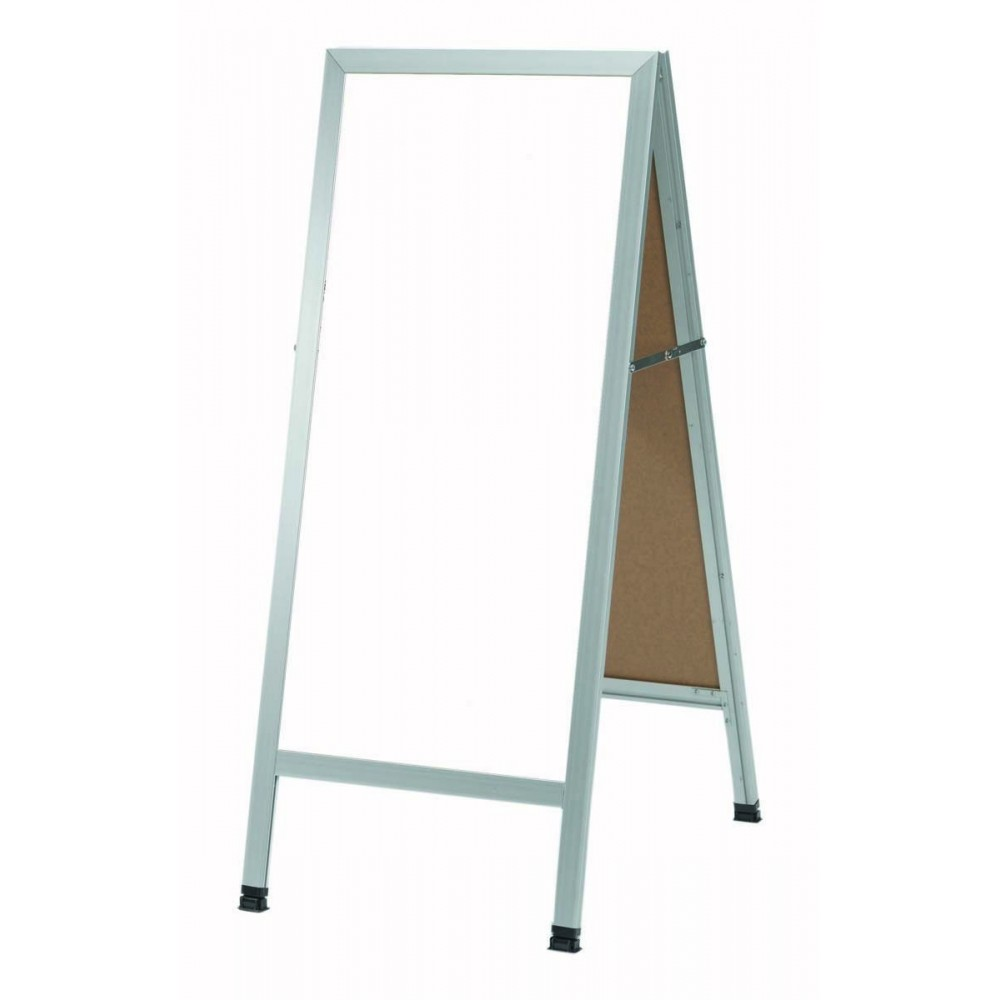 """Aarco Products AA-311SW Aluminum A-Frame Sidewalk White Porcelain Markerboard, 42""""H x 18""""W"""