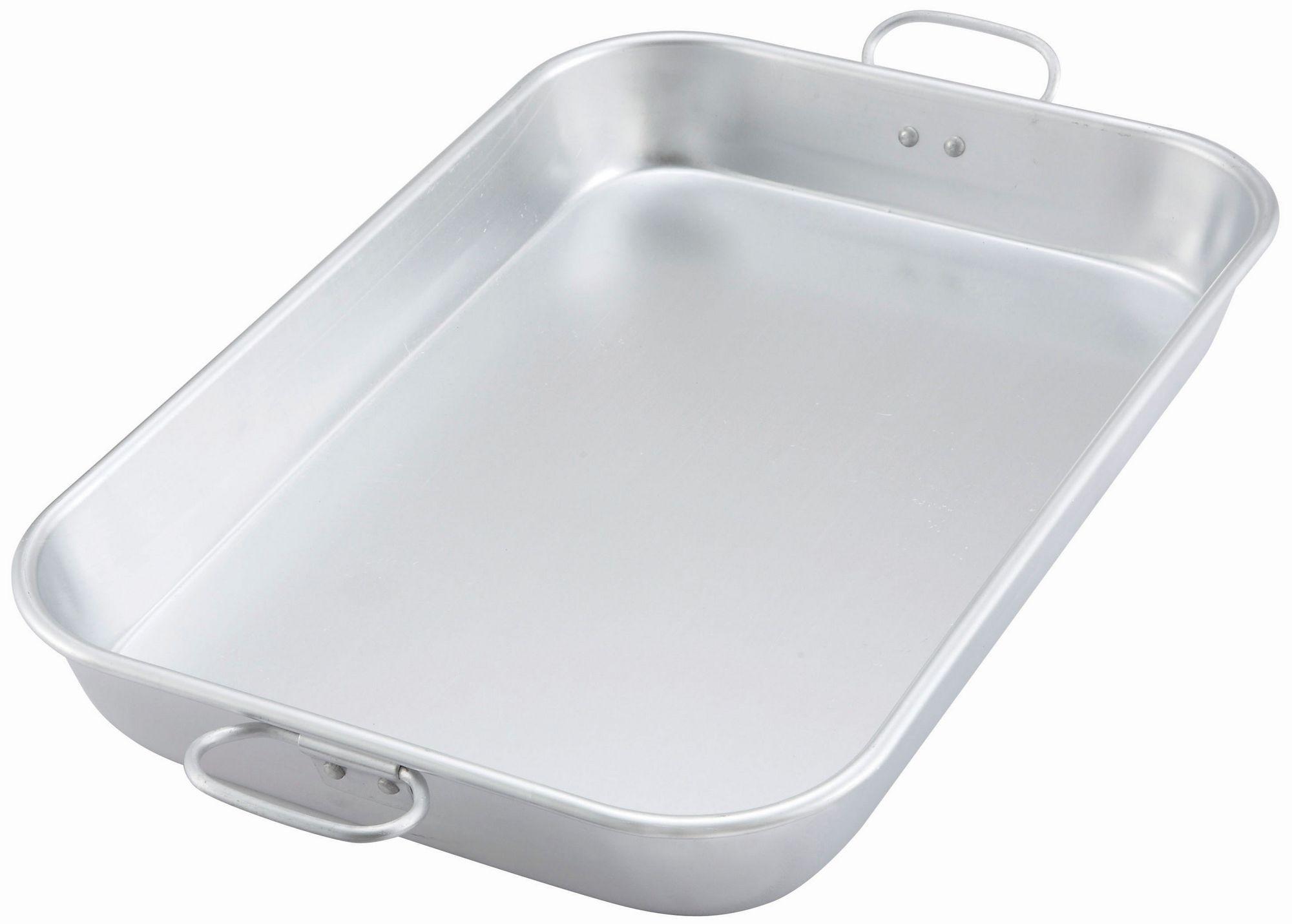 "Winco ALBP-1218 Aluminum Bake/Roasting Pan with Drop Handles, 17-3/4"" x 11-1/2"" x 2-1/4"