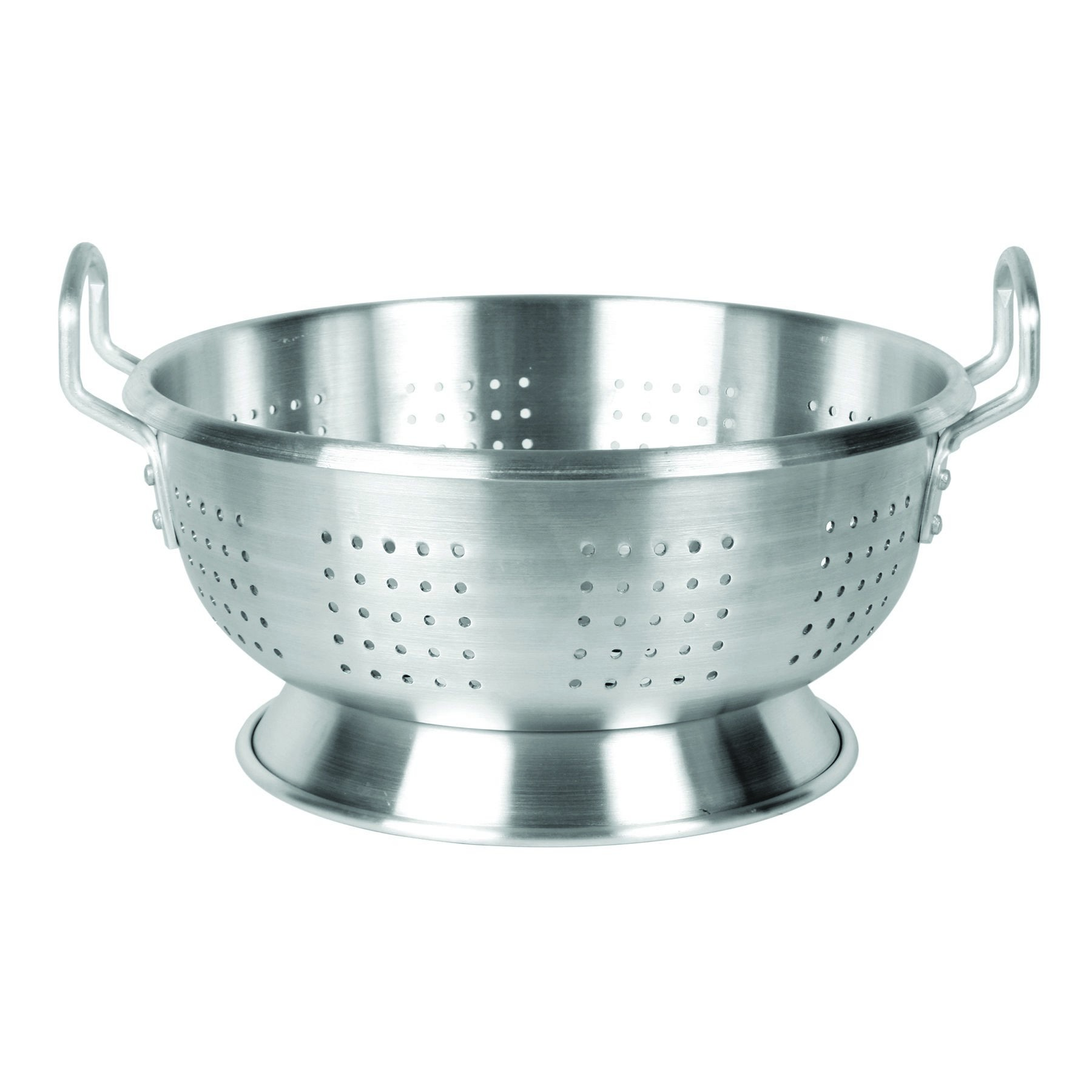 Aluminum Colander With Base And Handle 12 Qt-Heavy Duty (3.0 M/M)