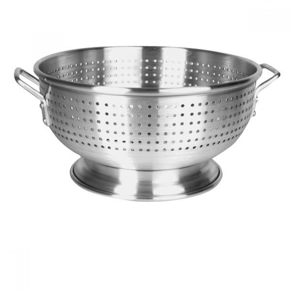 Thunder Group ALHDCO102 Heavy Duty Aluminum Colander with Base and Handle 16 Qt.