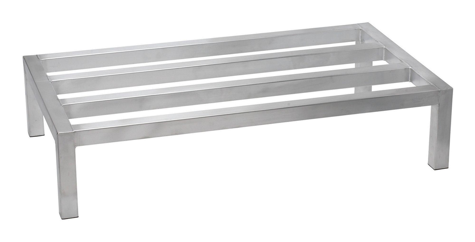 """Winco ASDR-2048 Aluminum Dunnage Rack, 20"""" x 48"""" x 8"""""""