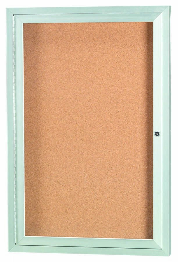 """Aarco Products DCC3624R 1 Door Indoor Enclosed Bulletin Board with Aluminum Frame, 36""""H x 24""""W"""