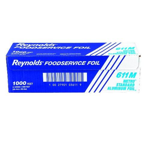 Aluminum Foil Roll, Metro 12 X 1000'