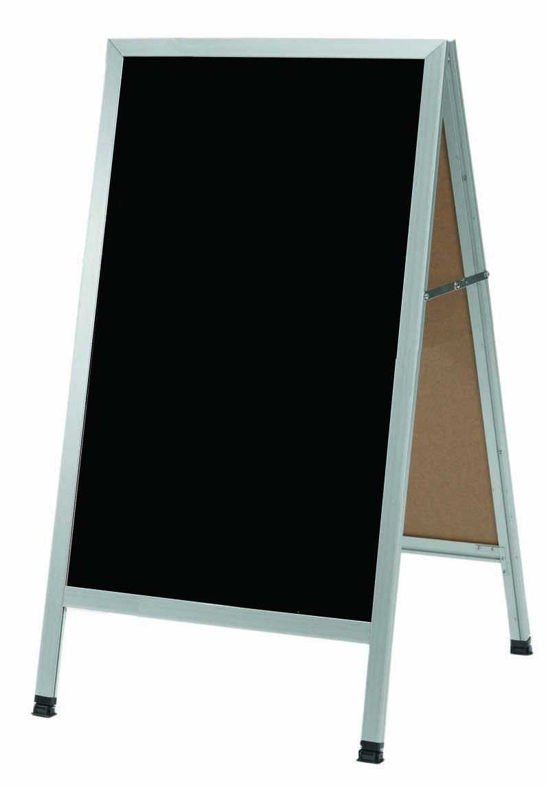 "Aarco Products AA-1BP Aluminum Frame Black Acrylic A-Frame Sidewalk Board 42""H x 24""W"