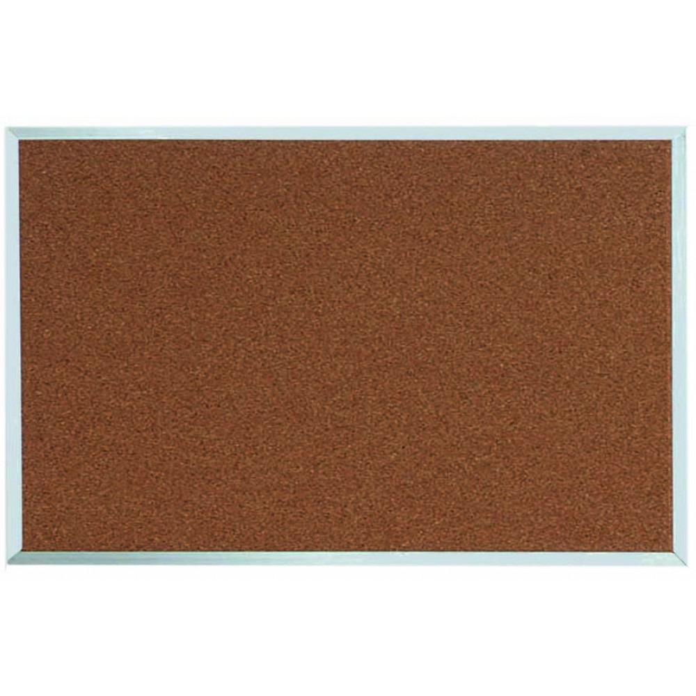 "Aarco Products DB2436 Aluminum Frame Bulletin Board, 24""H x 36""W"