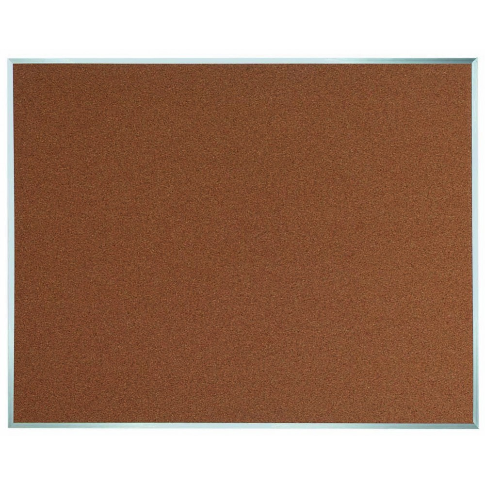 "Aarco Products DB4860 Aluminum Frame Bulletin Board, 48""H x 60""W"