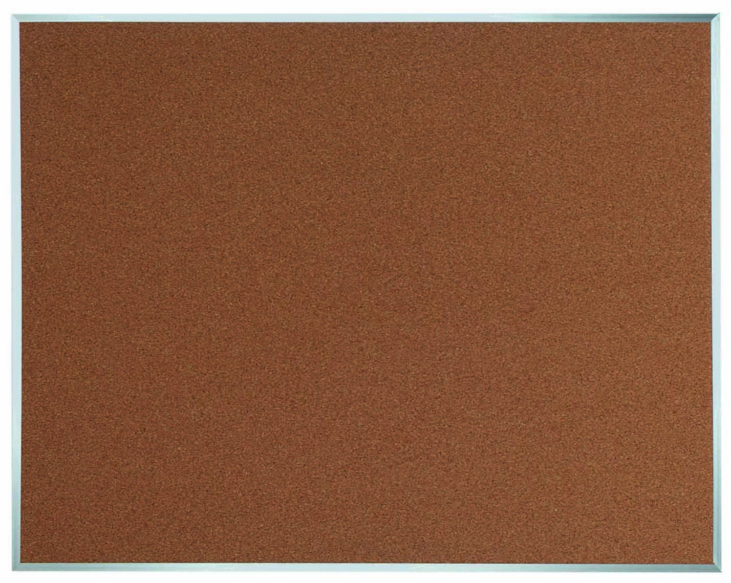 "Aarco Products DB4860 Aluminum Frame Bulletin Board, 60""W x 48""H"