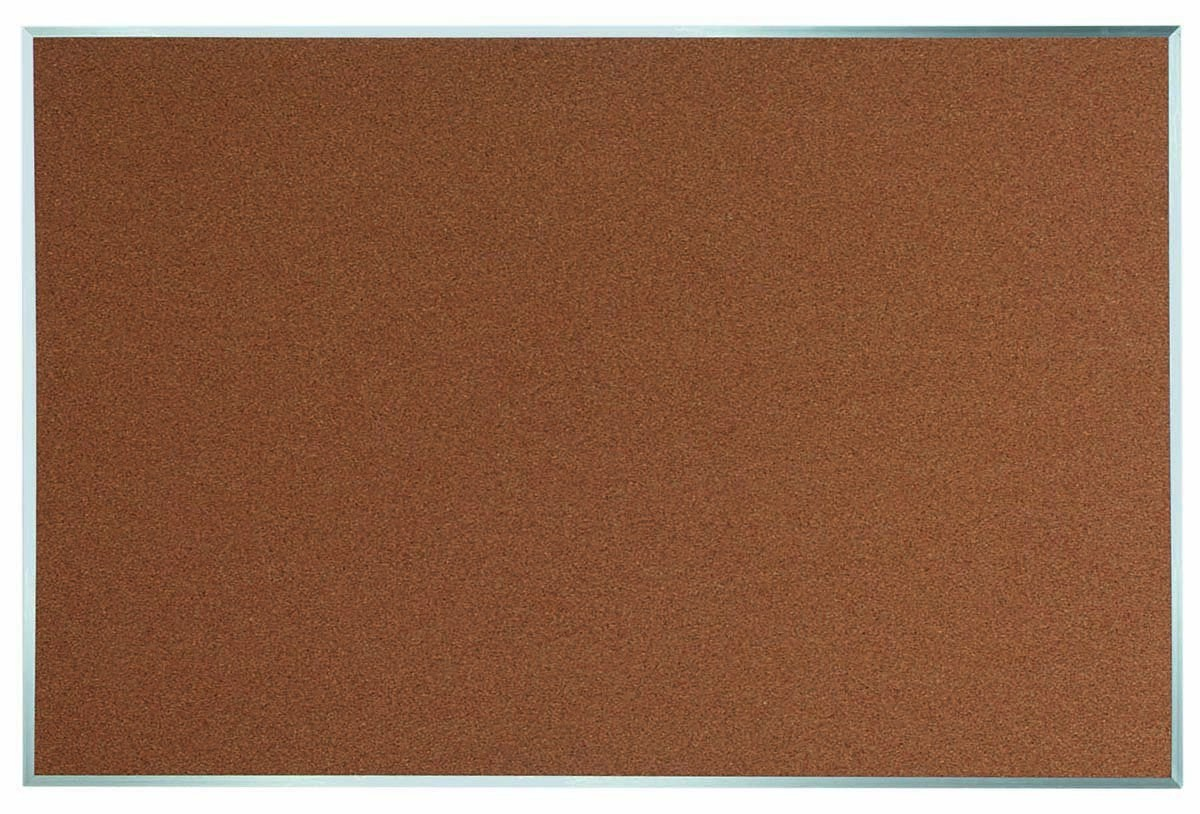 "Aarco Products DB4872 Aluminum Frame Bulletin Board, 48""H x 72""W"