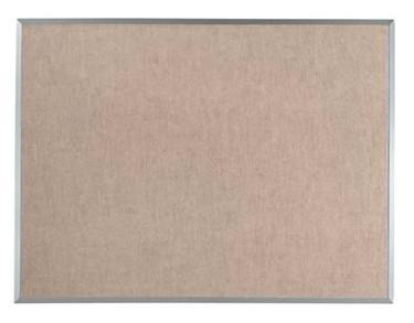 Aluminum Frame Burlap Weave Vinyl Tackboard - 24
